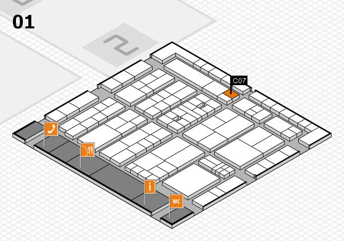 K 2016 hall map (Hall 1): stand C07