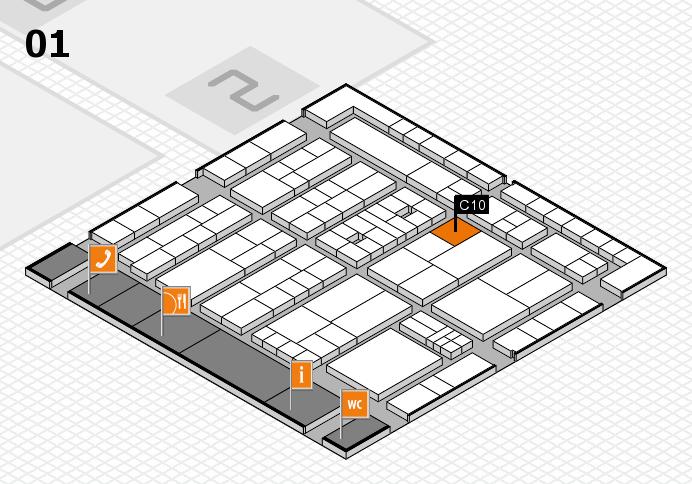 K 2016 hall map (Hall 1): stand C10