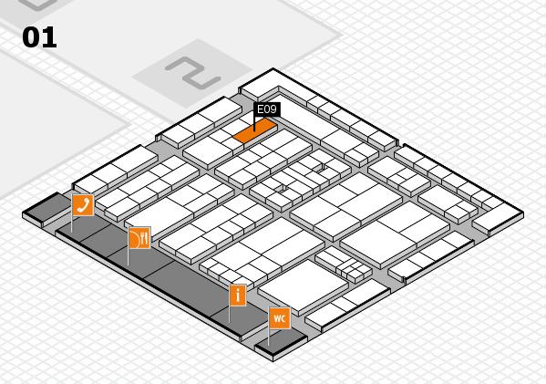 K 2016 Hallenplan (Halle 1): Stand E09