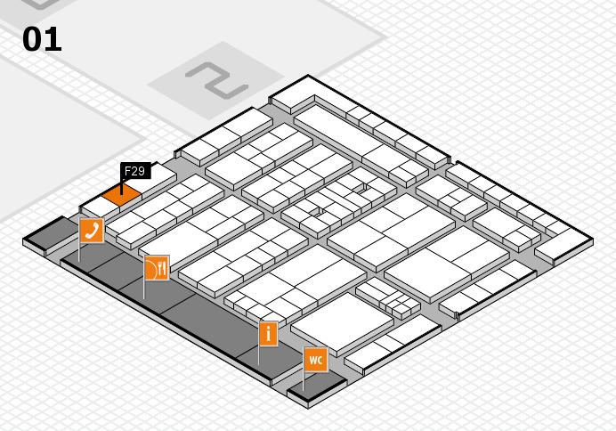 K 2016 hall map (Hall 1): stand F29