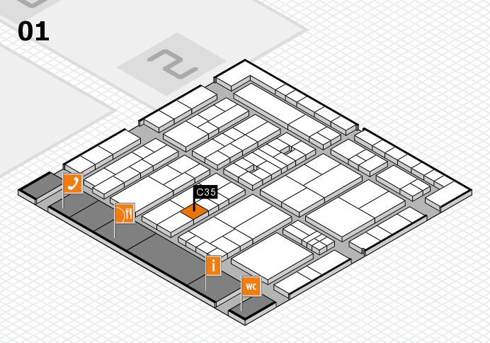 K 2016 hall map (Hall 1): stand C35