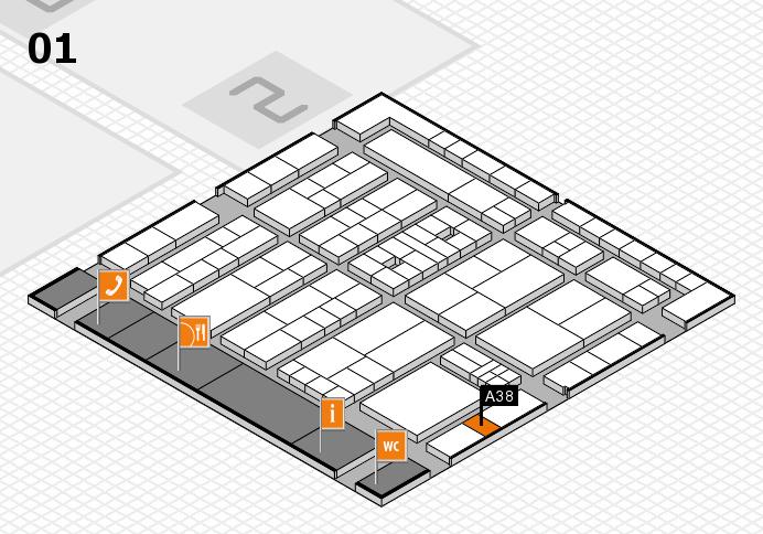 K 2016 Hallenplan (Halle 1): Stand A38