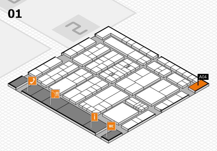K 2016 hall map (Hall 1): stand A04