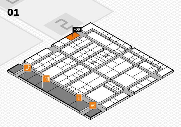 K 2016 Hallenplan (Halle 1): Stand F09