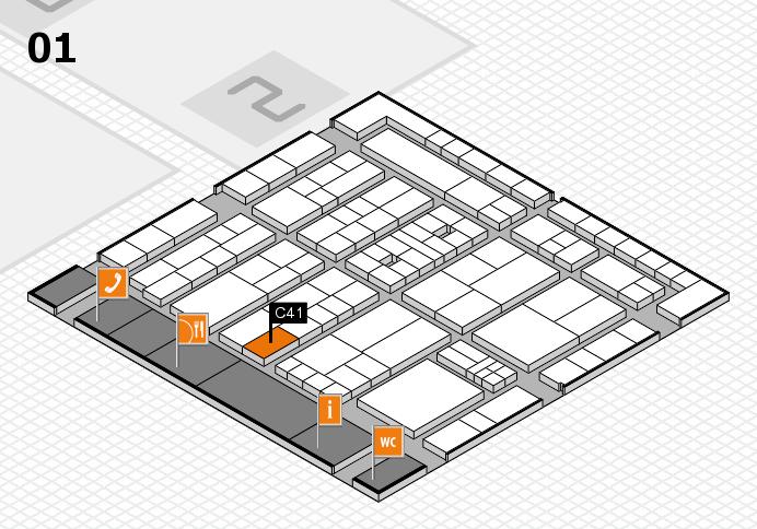 K 2016 hall map (Hall 1): stand C41