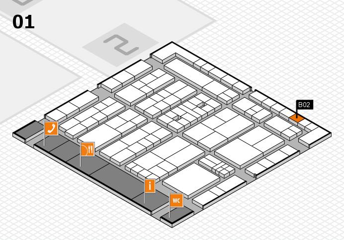 K 2016 Hallenplan (Halle 1): Stand B02