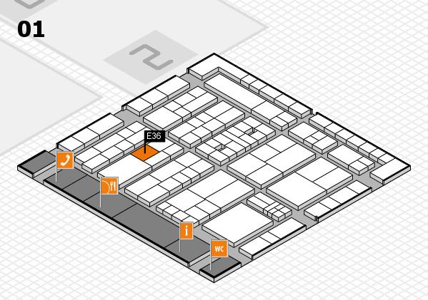 K 2016 Hallenplan (Halle 1): Stand E36
