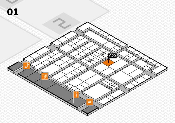 K 2016 Hallenplan (Halle 1): Stand C20