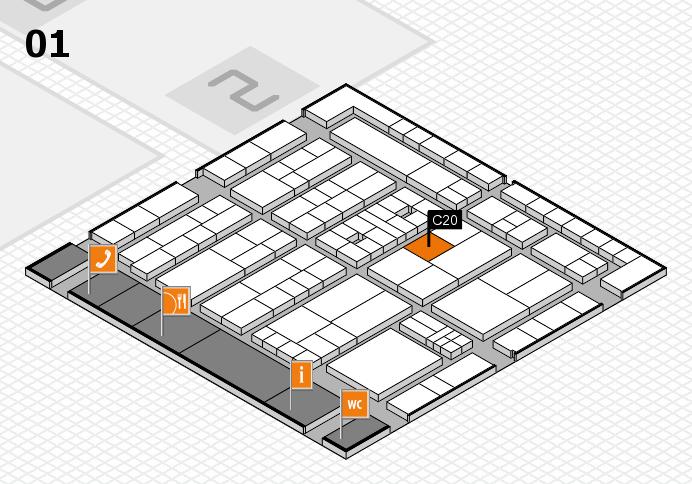 K 2016 hall map (Hall 1): stand C20