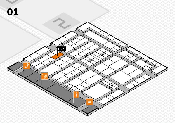 K 2016 hall map (Hall 1): stand E25