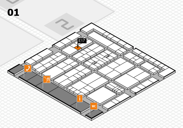 K 2016 hall map (Hall 1): stand E17