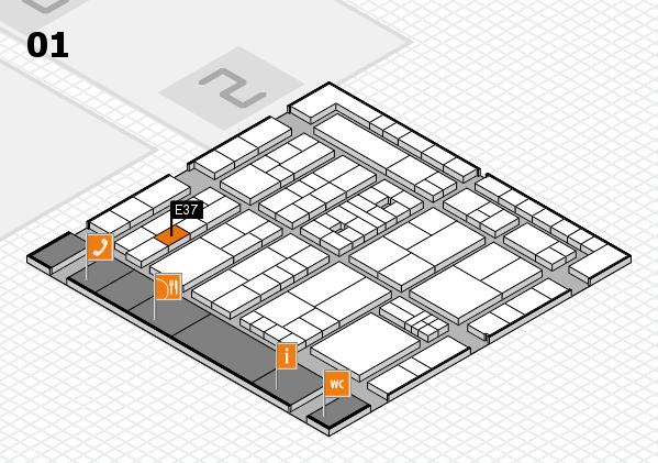 K 2016 hall map (Hall 1): stand E37