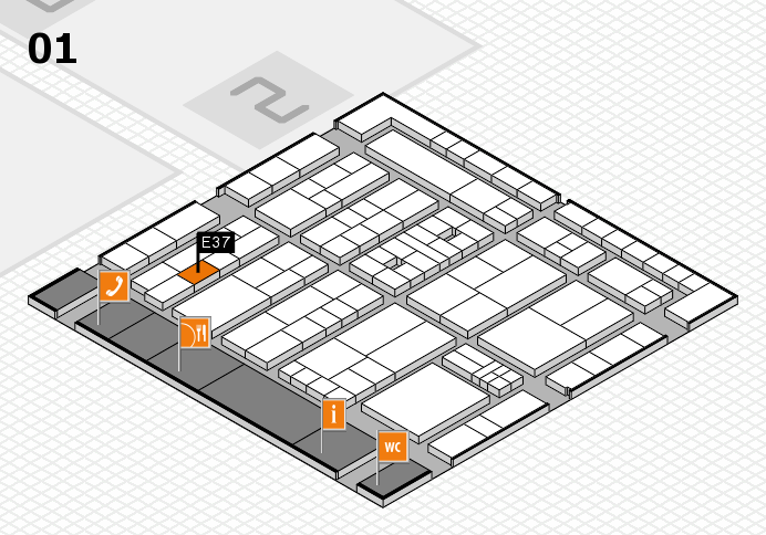 K 2016 Hallenplan (Halle 1): Stand E37