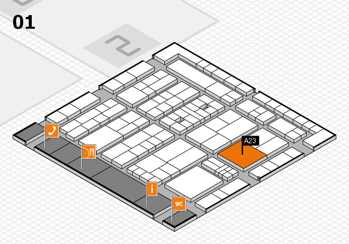 K 2016 Hallenplan (Halle 1): Stand A23