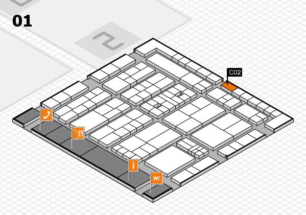 K 2016 Hallenplan (Halle 1): Stand C02
