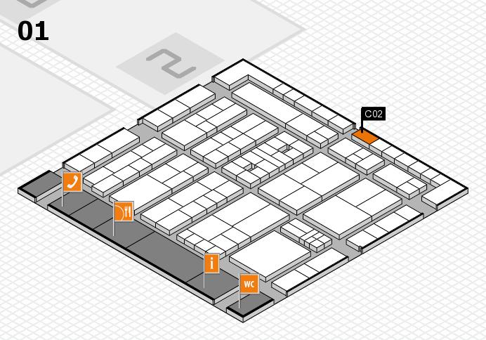 K 2016 hall map (Hall 1): stand C02