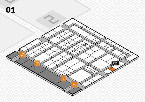 K 2016 Hallenplan (Halle 1): Stand A22
