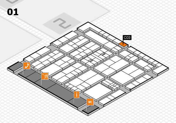 K 2016 hall map (Hall 1): stand C03