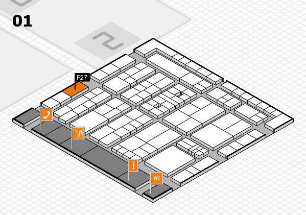 K 2016 hall map (Hall 1): stand F27