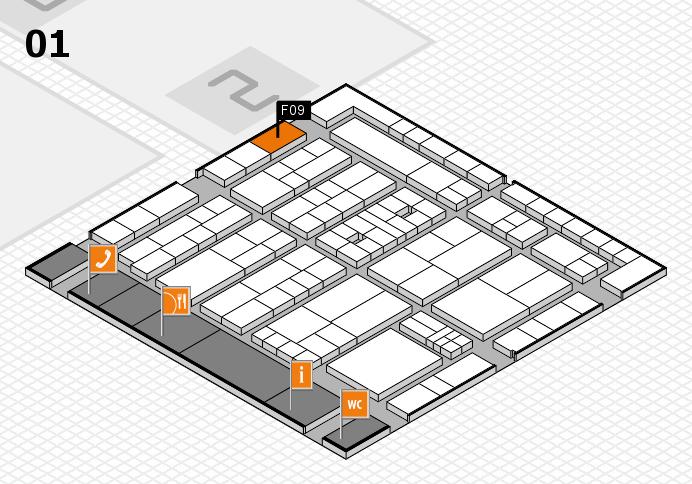 K 2016 hall map (Hall 1): stand F09