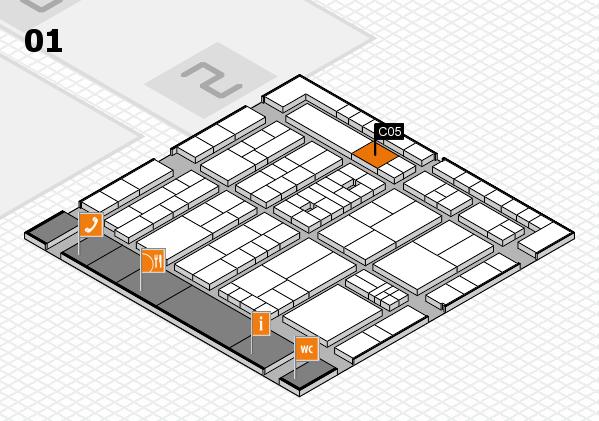 K 2016 hall map (Hall 1): stand C05