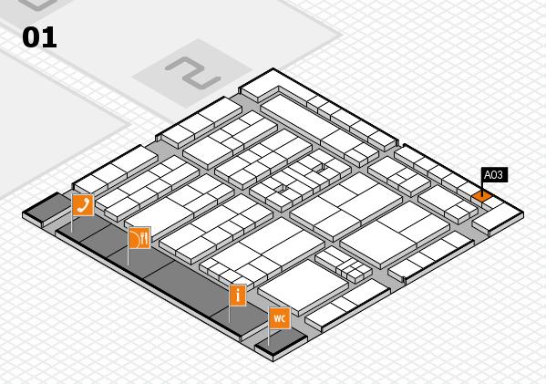 K 2016 Hallenplan (Halle 1): Stand A03