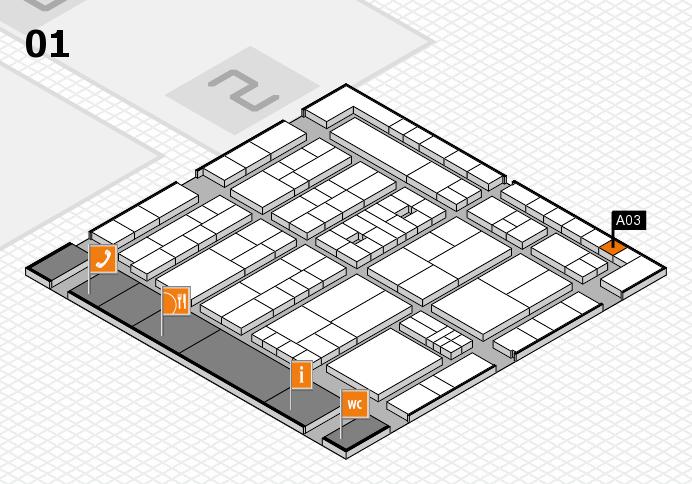 K 2016 hall map (Hall 1): stand A03