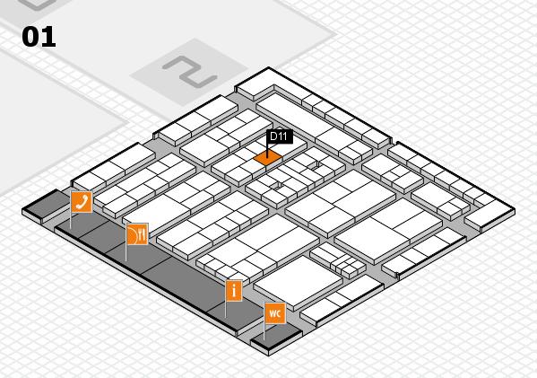 K 2016 hall map (Hall 1): stand D11