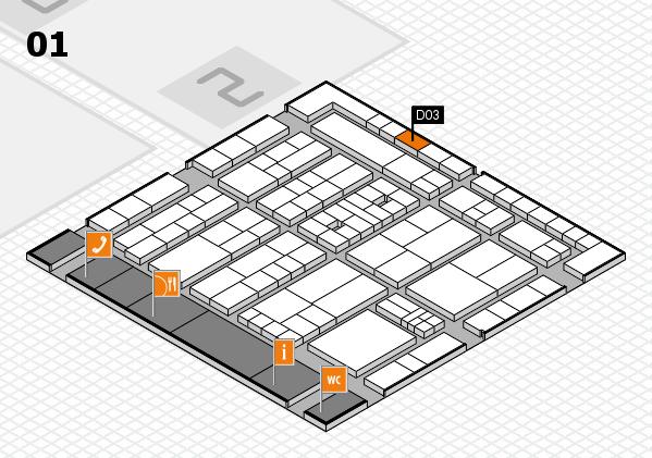 K 2016 Hallenplan (Halle 1): Stand D03
