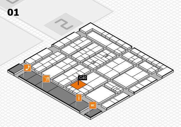 K 2016 Hallenplan (Halle 1): Stand C40