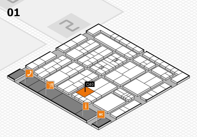 K 2016 hall map (Hall 1): stand C40