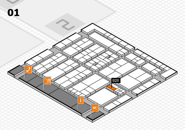 K 2016 hall map (Hall 1): stand B26