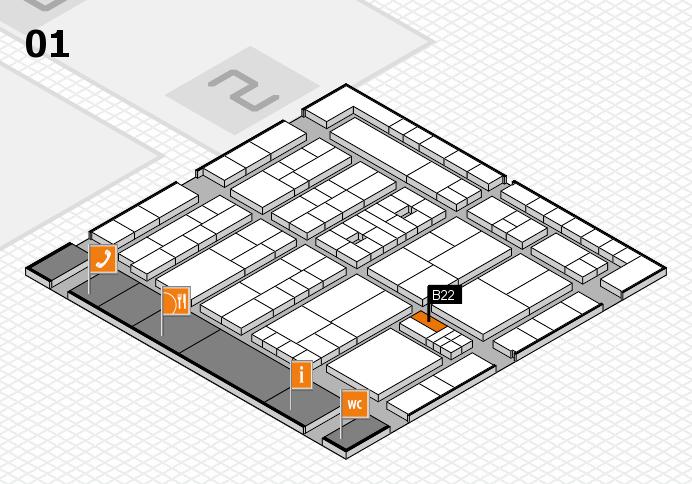 K 2016 Hallenplan (Halle 1): Stand B22