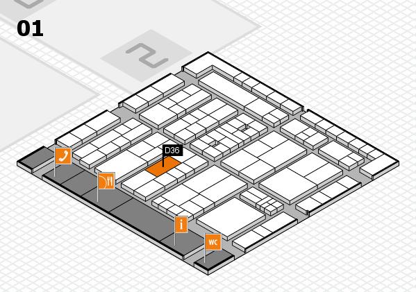 K 2016 Hallenplan (Halle 1): Stand D36