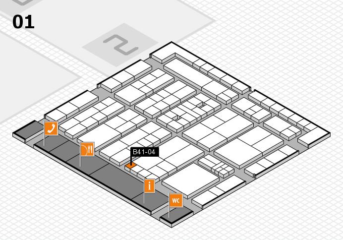 K 2016 hall map (Hall 1): stand B41-04