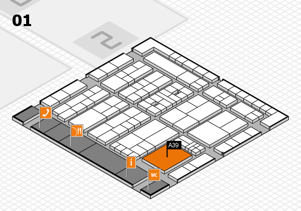 K 2016 Hallenplan (Halle 1): Stand A39