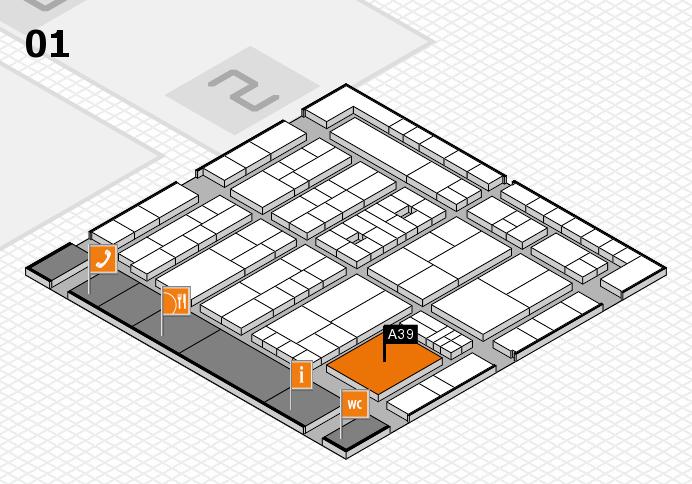 K 2016 hall map (Hall 1): stand A39