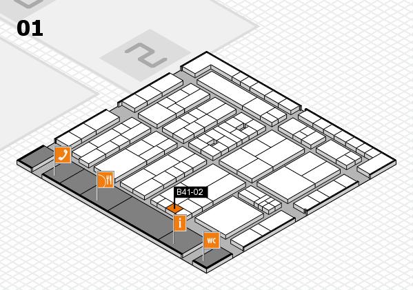 K 2016 hall map (Hall 1): stand B41-02