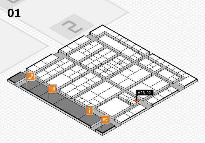 K 2016 hall map (Hall 1): stand A25-02