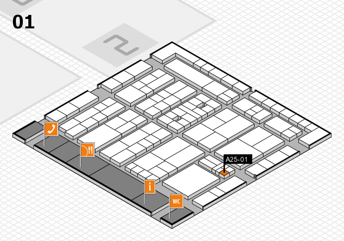 K 2016 Hallenplan (Halle 1): Stand A25-01