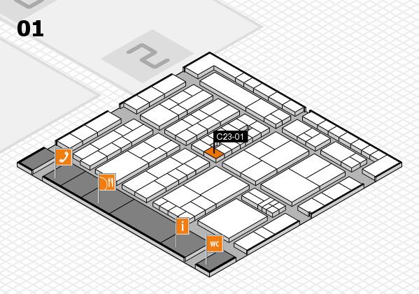 K 2016 Hallenplan (Halle 1): Stand C23-01