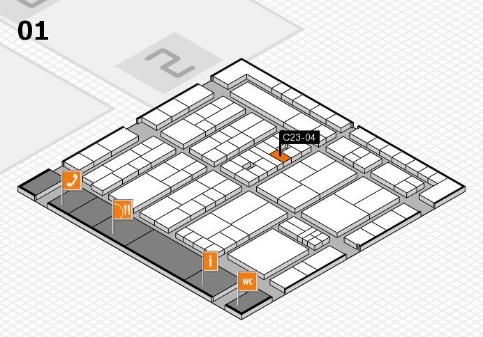 K 2016 Hallenplan (Halle 1): Stand C23-04