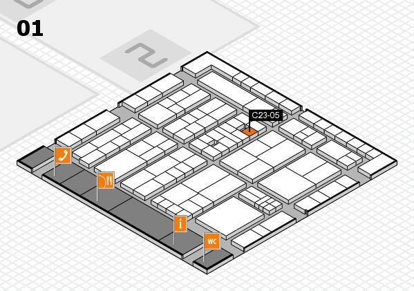 K 2016 Hallenplan (Halle 1): Stand C23-05