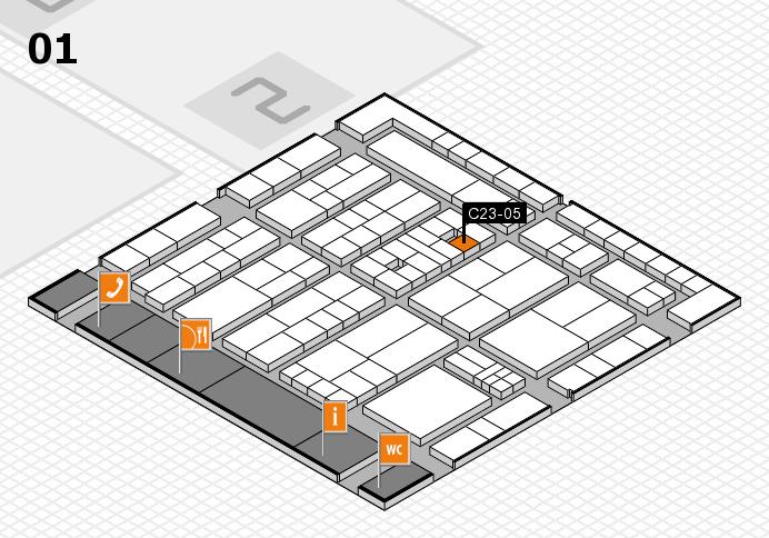 K 2016 hall map (Hall 1): stand C23-05