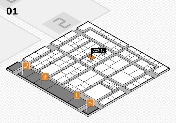 K 2016 hall map (Hall 1): stand C23-10