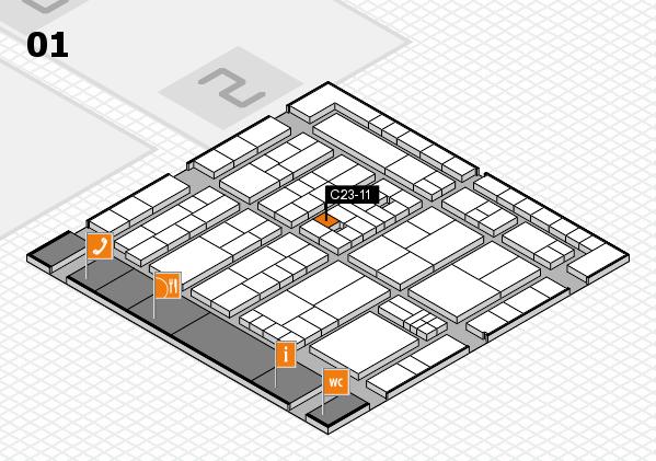 K 2016 hall map (Hall 1): stand C23-11