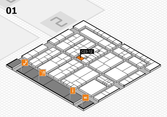 K 2016 hall map (Hall 1): stand C23-12