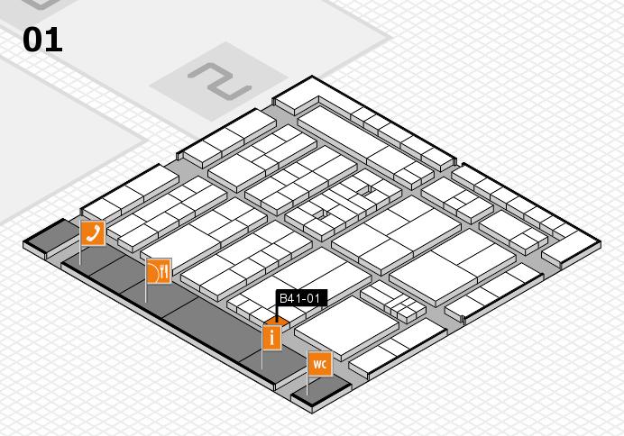 K 2016 hall map (Hall 1): stand B41-01