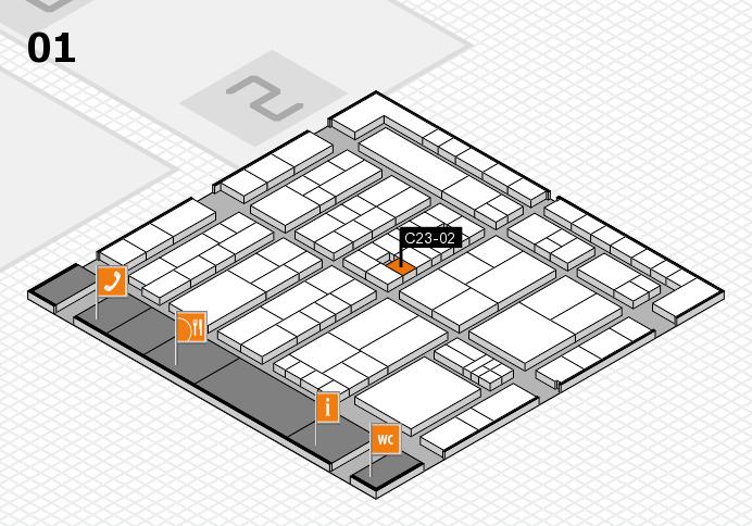 K 2016 Hallenplan (Halle 1): Stand C23-02