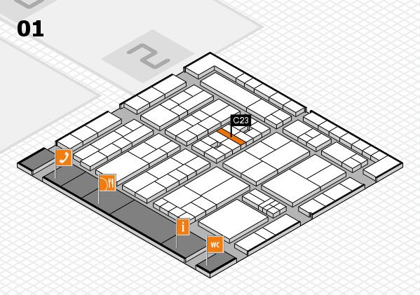 K 2016 hall map (Hall 1): stand C23